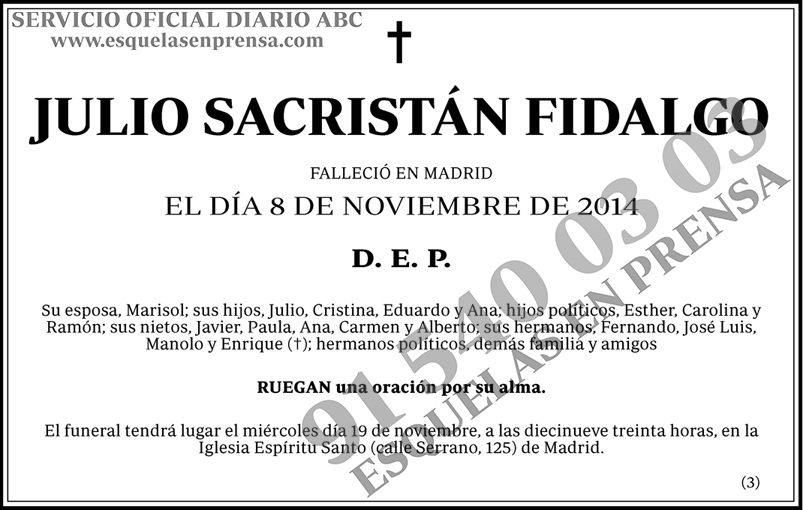 Julio Sacristán Fidalgo